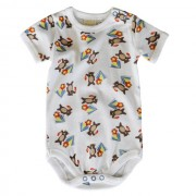Camping Bear Bodysuit - Short Sleeve - Size 3-6 months (00)