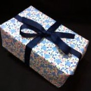 Blue and Pink Floral Gift Wrap