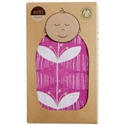 Organic Cotton Swaddling Wrap - Pink Orchid